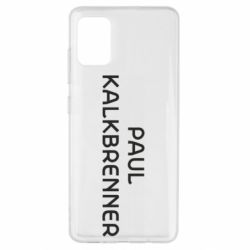 Чехол для Samsung A51 Singer Paul Kalkbrenner