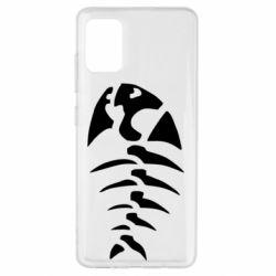 Чехол для Samsung A51 скелет рыбки