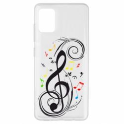Чехол для Samsung A51 Скрипичный ключ