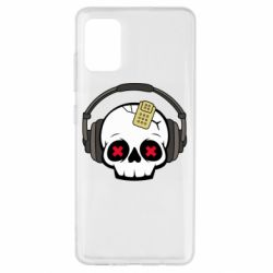 Чохол для Samsung A51 Skull in headphones 1