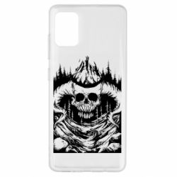 Чохол для Samsung A51 Skull with horns in the forest