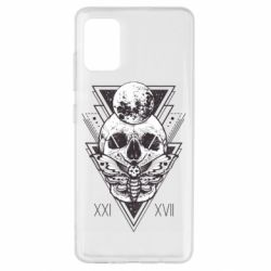 Чохол для Samsung A51 Skull with insect