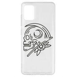 Чохол для Samsung A51 Skull with scythe