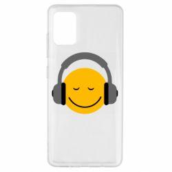 Чехол для Samsung A51 Smile in the headphones