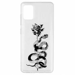 Чохол для Samsung A51 Snake and rose