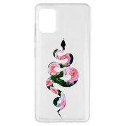 Чохол для Samsung A51 Snake and roses