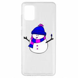 Чехол для Samsung A51 Снеговик