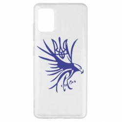 Чохол для Samsung A51 Сокіл та герб України