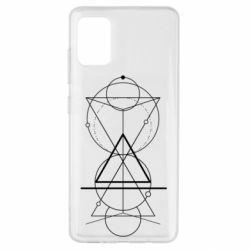 Чохол для Samsung A51 Сomposition of geometric shapes