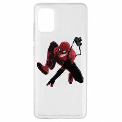 Чехол для Samsung A51 Spiderman flat vector