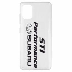Чехол для Samsung A51 Subaru STI