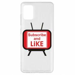 Чохол для Samsung A51 Subscribe and like youtube