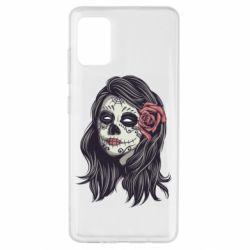 Чохол для Samsung A51 Sugar girl with a rose