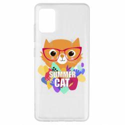 Чехол для Samsung A51 Summer cat