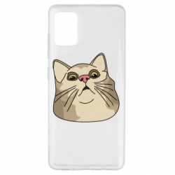 Чехол для Samsung A51 Surprised cat