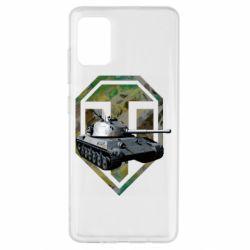 Чехол для Samsung A51 Tank and WOT game logo