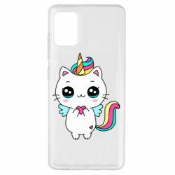 Чохол для Samsung A51 The cat is unicorn