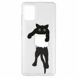 Чехол для Samsung A51 The cat tore the pocket
