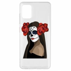 Чохол для Samsung A51 The girl in the image of the day of the dead