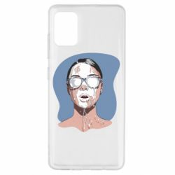Чохол для Samsung A51 The girl is doused with milk