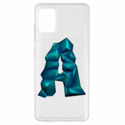 Чехол для Samsung A51 The letter a is cubic