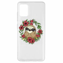 Чехол для Samsung A51 The slothful in flowers