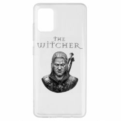 Чехол для Samsung A51 The witcher art black and gray