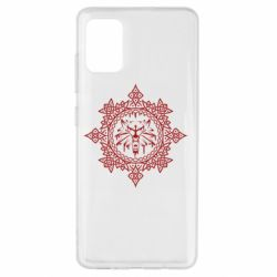Чохол для Samsung A51 The Witcher Wolf and Pattern