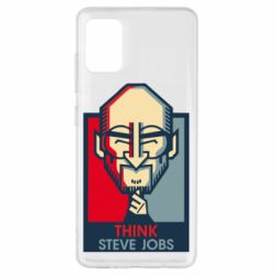 Чехол для Samsung A51 Think Steve Jobs