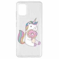 Чехол для Samsung A51 Unicorn and cake