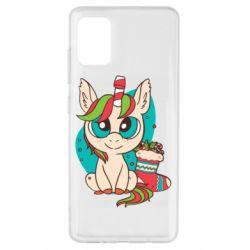 Чехол для Samsung A51 Unicorn Christmas