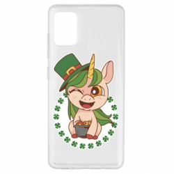 Чехол для Samsung A51 Unicorn patrick day