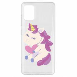 Чехол для Samsung A51 Unicorn with love