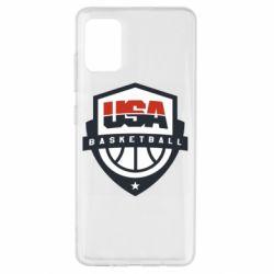 Чехол для Samsung A51 USA basketball