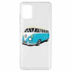 Чехол для Samsung A51 Vector Volkswagen Bus
