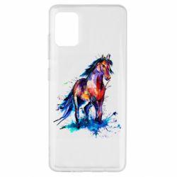 Чехол для Samsung A51 Watercolor horse