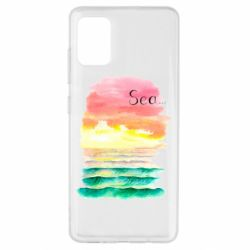 Чехол для Samsung A51 Watercolor pattern with sea