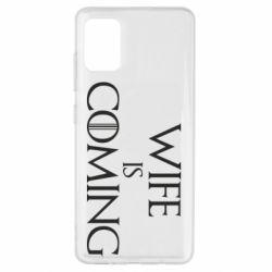 Чохол для Samsung A51 Wife is coming
