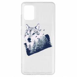 Чехол для Samsung A51 Wolf and forest