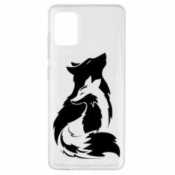 Чехол для Samsung A51 Wolf And Fox