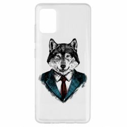 Чехол для Samsung A51 Wolf in costume