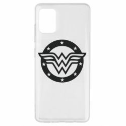 Чехол для Samsung A51 Wonder woman logo and stars