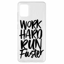 Чохол для Samsung A51 Work hard run faster
