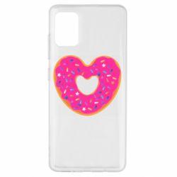 Чехол для Samsung A51 Я люблю пончик