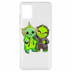 Чехол для Samsung A51 Yoda and Grinch