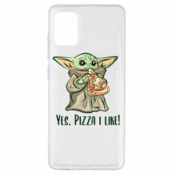 Чехол для Samsung A51 Yoda and pizza