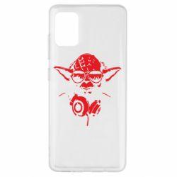 Чехол для Samsung A51 Yoda в наушниках