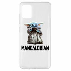 Чехол для Samsung A51 Yoda with a cup