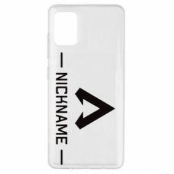 Чехол для Samsung A51 Your NickName English only