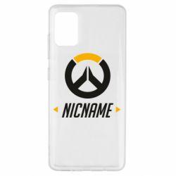 Чехол для Samsung A51 Your Nickname Overwatch